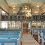 Samlingsrum med pentry under läktare, Berghems kyrka