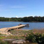 Ny brygga i Stallviken, nära Naturum Vänern