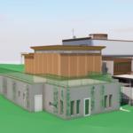 3D-modell av nybyggnad, S:t Jörgens kapell
