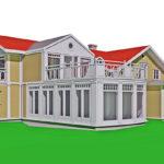 Tillbyggnad villa med nyklassicism, 1910-tal